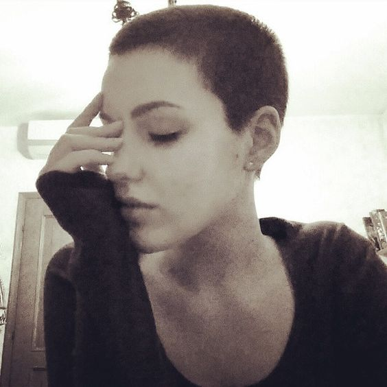My hair, Shaved heads and Short hairstyles on Pinterest