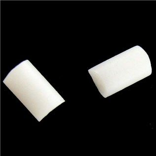White Rubber Earnuts, $1.47