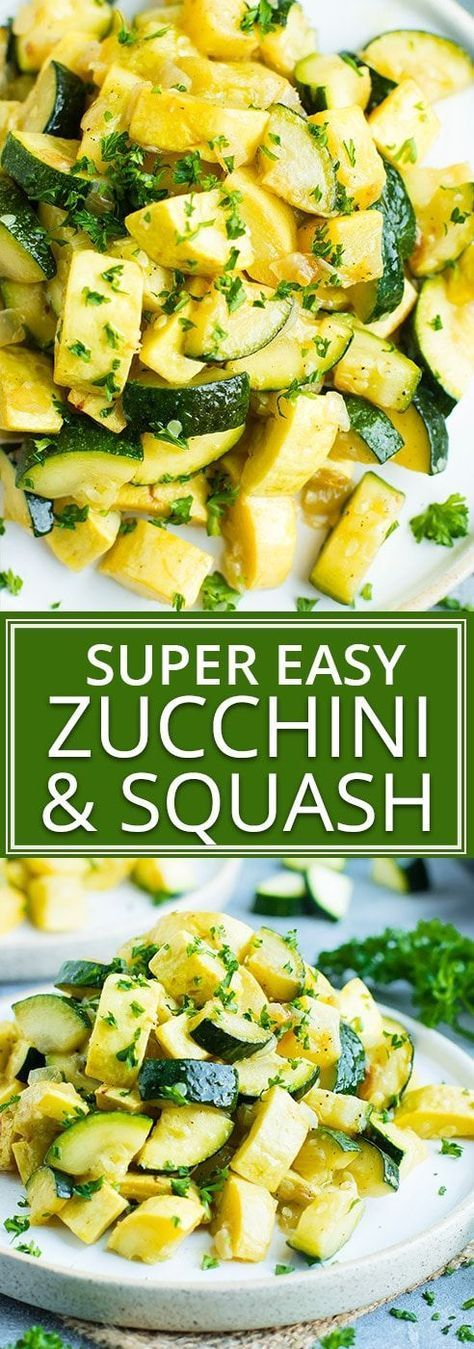 Sauteed Zucchini and Squash in 20 Minutes