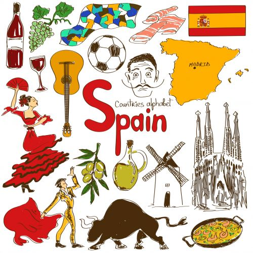 Spain Culture Map | Running of the bulls, The bull and Pompadour