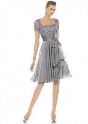 vestido cinza para casamento no civil
