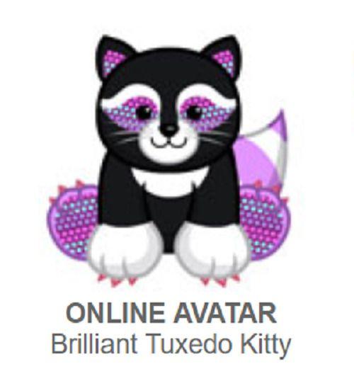 Webkinz Brilliant Tuxedo Kitten Promo Pet Code Only Webkinz