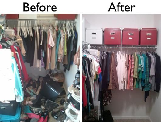 Image result for before and after staging photos closet