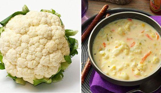 Výživná květáková polévka s mrkví a sýrem + výživové hodnoty
