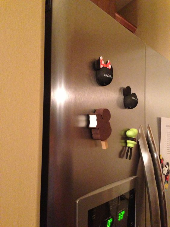 """Another great use for the Disney antenna toppers! Cut them in half and super glue a magnet on the back! Now your fridge has """"character"""" :)"""