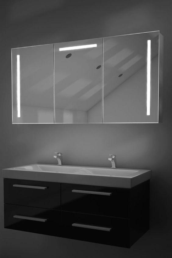 cali led-badezimmerschrank mit spiegelheizung, sensor & rasierer, Hause ideen