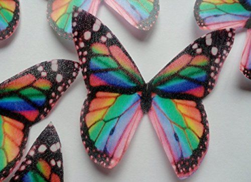 12 RAINBOW MULTICOLORED MONARCH BUTTERFLY Small Medium & Large Edible Butterflies Assorted Set - Cake Decorations, Cupcake Topper for Weddings Birthdays Anniversaries Baby Showers Picture Cake Toppers http://www.amazon.com/dp/B00KERMRZK/ref=cm_sw_r_pi_dp_FR1Pub0XVJKX1