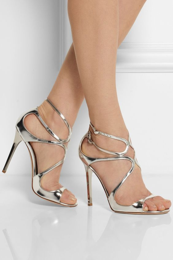 Gorgeous silver Jimmy Choo sandals http://rstyle.me/n/hz8a8nyg6