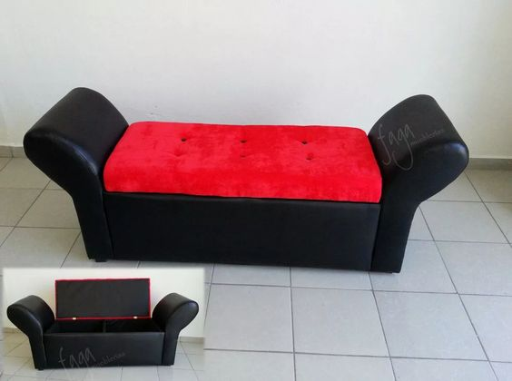 pie de cama baúl sillon love seat taburete piecera banca mt ...