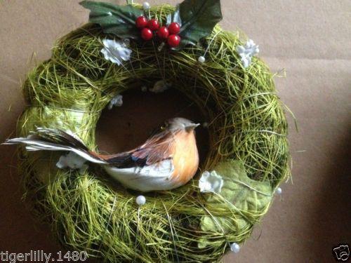 Small-12cm-Sisal-Bird-Christmas-Wreath