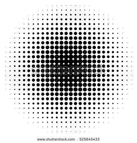 Halftone Circles Halftone Dots Pattern Monochrome Half Tone Halftone Dots Halftone Monochrome Pattern
