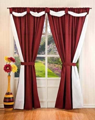 Cortinas sala habitacion ventanas camas cunas for Como poner ganchos de cortinas