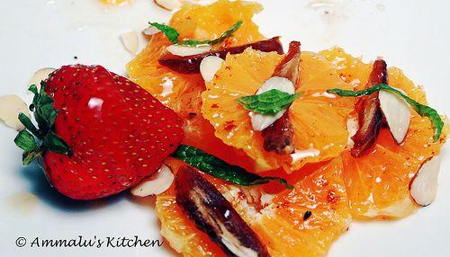 orange-date-salad | Summer | Pinterest | Almonds, Dates and Salads