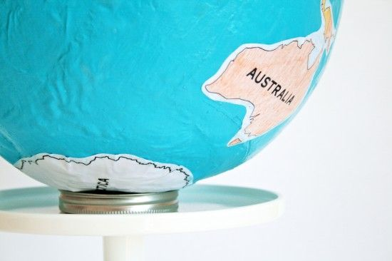 make your own globe with printable continents