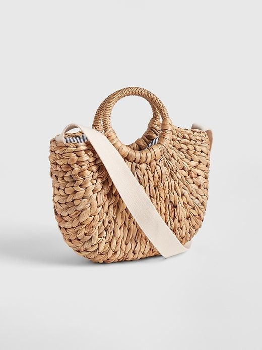 Gap Women S Woven Straw Crossbody Tote Natural In 2019