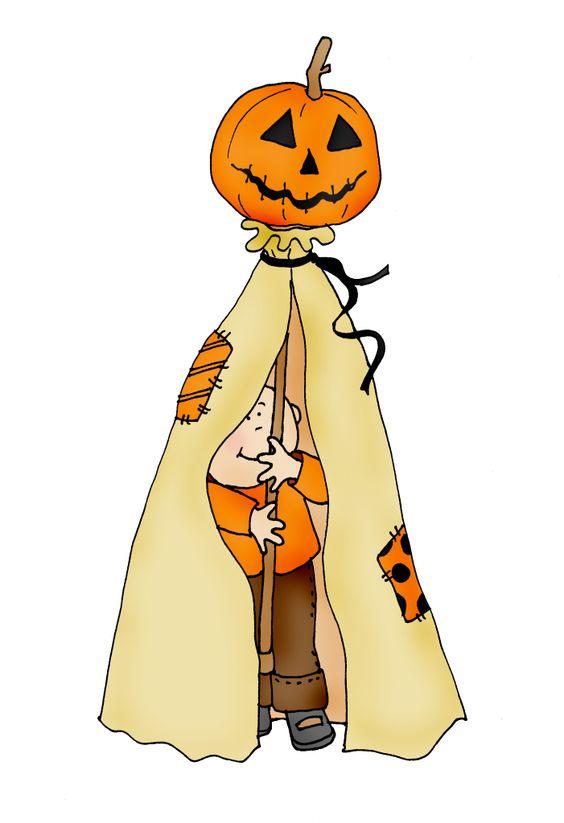 Pumpkin Hideout Color Dearie Dolls Digi Stamps ღ