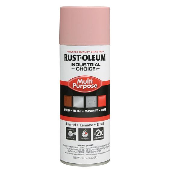 Rust-Oleum Industrial Choice High Heat Dusty Pink Rust Resistant Enamel Spray Paint (Actual Net Contents: 12-oz)