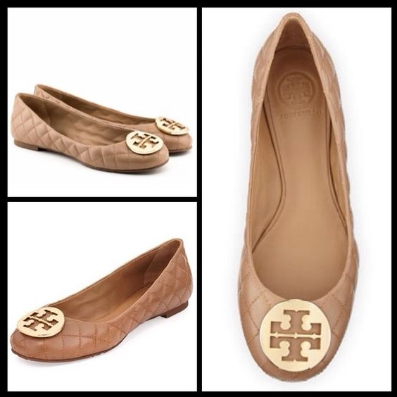 """Spotted while shopping on Poshmark: """"NWT Tory Burch Quinn Ballet Flat""""! #poshmark #fashion #shopping #style #Tory Burch #Shoes"""