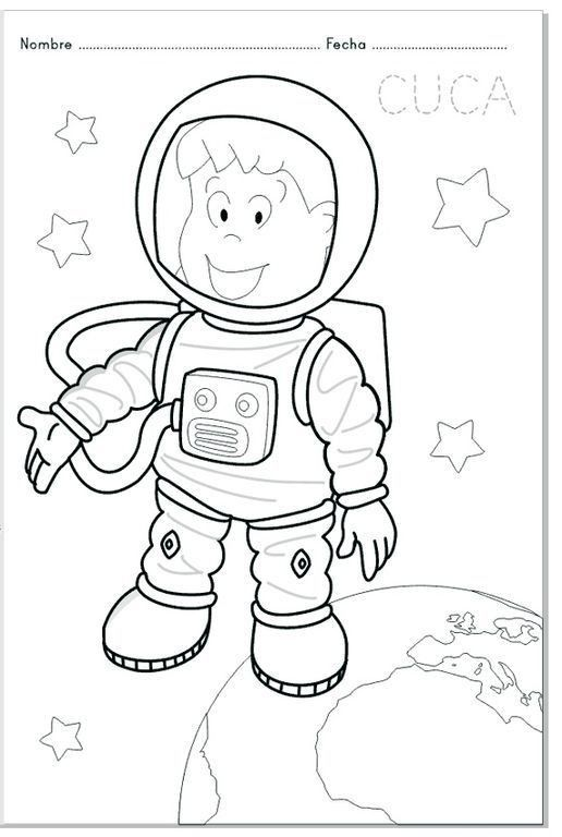 Astronot Ve Uzay Etkinlikleri Astronot Boyama Sayfalari Okul