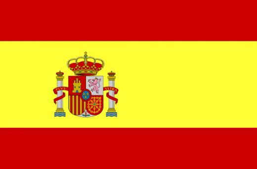 flag of Spain Yellow- symbol of generosity  Red- hardiness, bravery, and strength Symbol- national coat of arms to display the emblems of the traditional kingdoms of Spain.