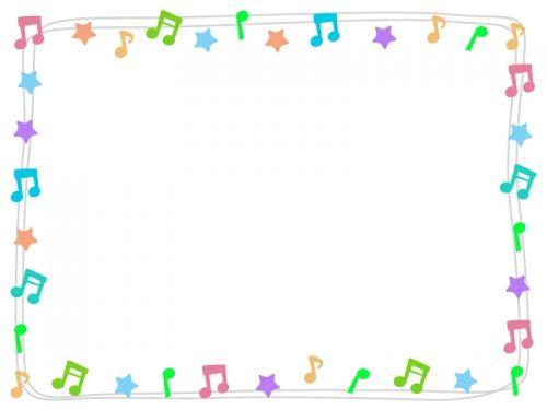 ギャラリーイラスト 音符 フリー イラスト 音符 イラスト フリーイラスト フレーム イラスト 無料