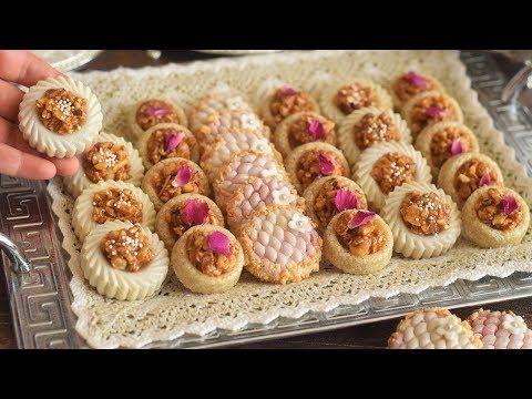 جديد حلويات اللوز لأول مرة على اليوتيوب 3 اشكال بدون آلة توريق سهلة وبسيطة واسرار العقدة والعجين Youtube Food Krispie Treats Cake Recipes