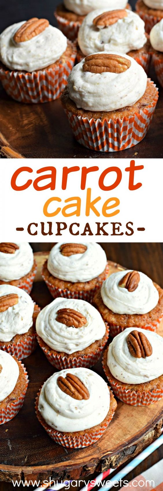 Carrot cake cupcakes, Carrot cakes and Carrots on Pinterest