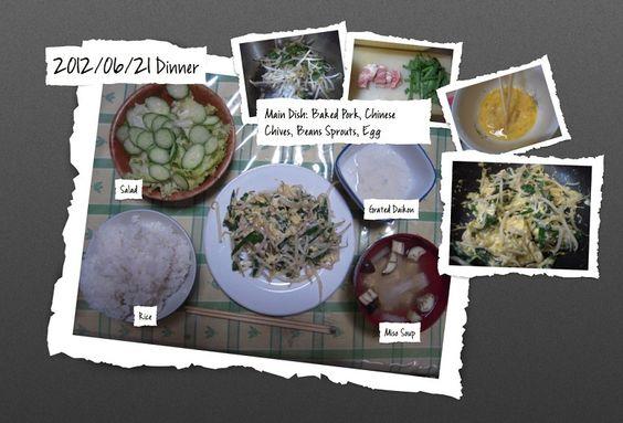 For Dinner on 21/Jun/2012