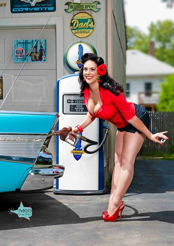 Classic Pinup Pose Note Straight Legs And Back Pigeon Toes And