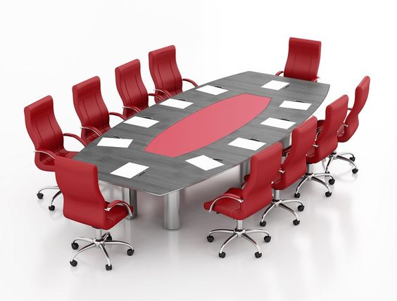 Boat shaped boardroom tables