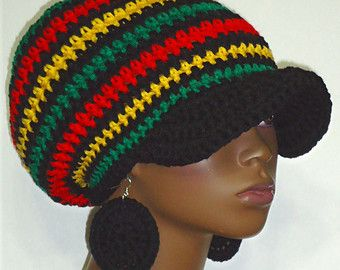 Free Crochet Pattern For Rasta Hat : Rasta colors, Caps hats and Hat patterns on Pinterest