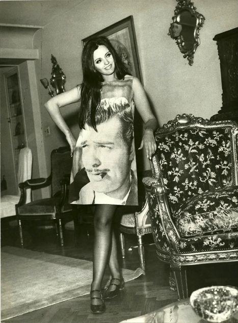 The elusive Rhett Butler dress on actress Marcela Lopez Rey.: