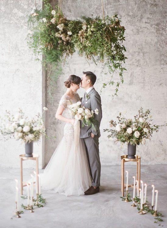 Hochzeitsdekoration im Industrial-Style: die schönsten Ideen. #industrialstyle #industrialwedding #hochzeitsmotto