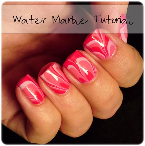 Ivana Thinks Pink: Step by Step: Candy Water Marble