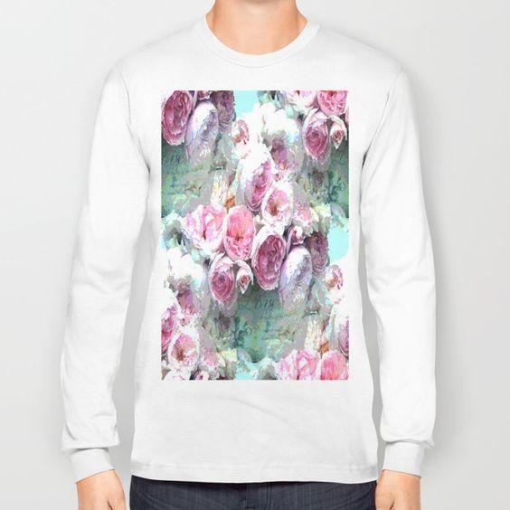 Pink Flowers Long Sleeve T-shirt
