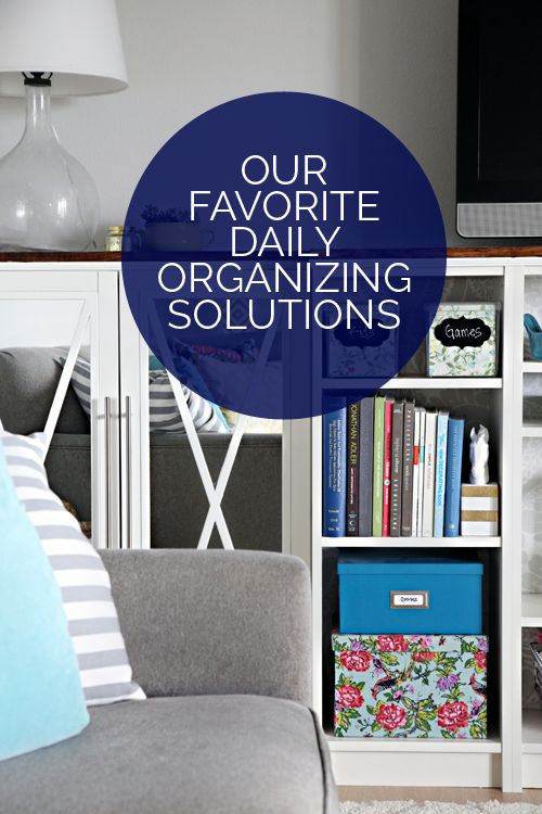 Definitely worth a read - Our Favorite Daily Organizing Solutions.