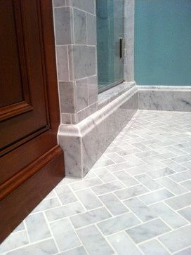 vintage bathroom with marble baseboard