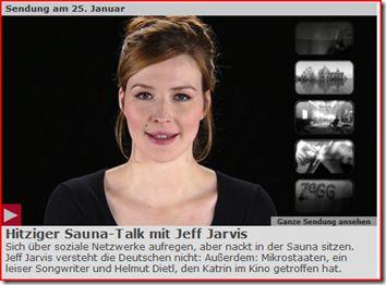 Privatsphäre paradox mit Jeff Jarvis in der Sauna