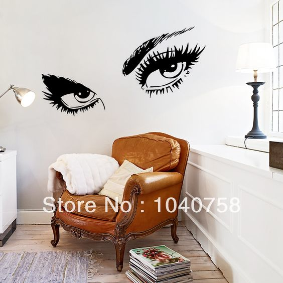sexy eyes wall decal sticker and wall murals on pinterest