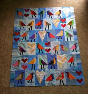 joe tulips quilts: birds.... instructions for bird block: