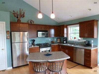Beautiful turquoise kitchen