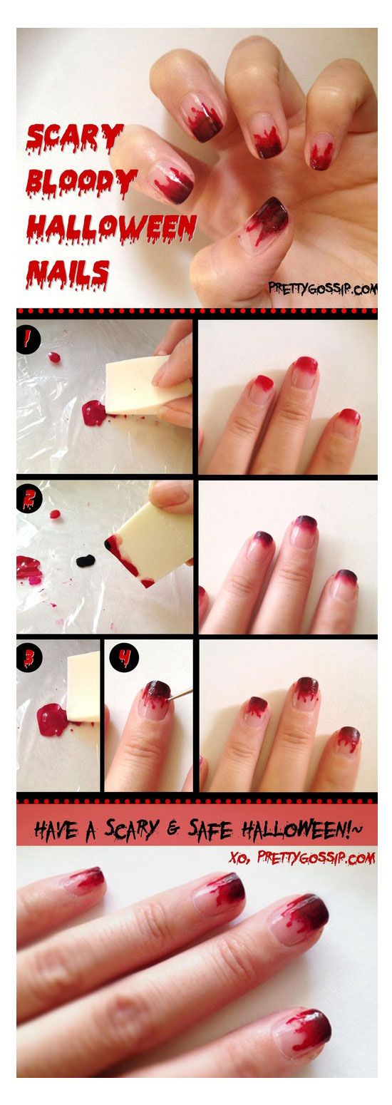 Simple easy scary halloween nail art tutorials 2012 for beginners simple easy scary halloween nail art tutorials 2012 for beginners learners 2 halloweena pinterest halloween nails halloween nail art and scary prinsesfo Image collections