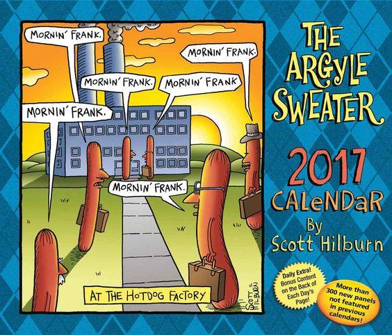 Argyle Sweater Desk Calendar 2017