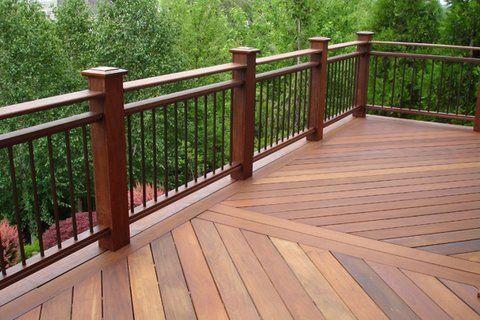 Deck Railing Post Inside Rim Joist Railing Deckrailingdesign