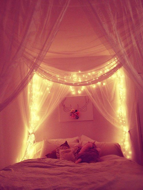 even as an adult.... i think i'll still like the idea of a canopy with lights.. its just such a dream like quality and why not?