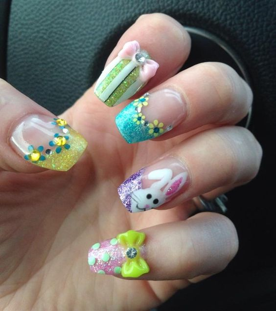 Day 110: Easter Nail Art - - NAILS Magazine