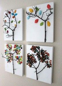 Tree art: Twig Tree, Art Idea, Diy Craft