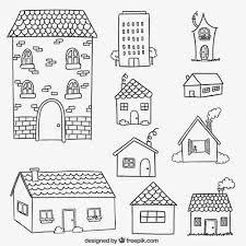 Resultado de imagen para dibujos de casas y barrio para for Casas para dibujar