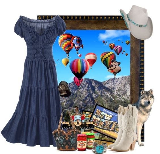 """Land of Enchantment - Albuquerque, New Mexico, USA"" by riley5 on Polyvore"