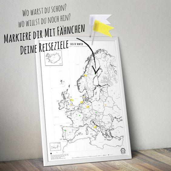 Sick of Winter Poster Europakarte
